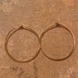 Gold Hoop Earrings Great Condition